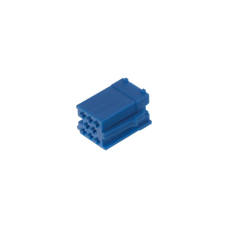 Konektor MINI ISO 8-pin bez kabelů - modrý
