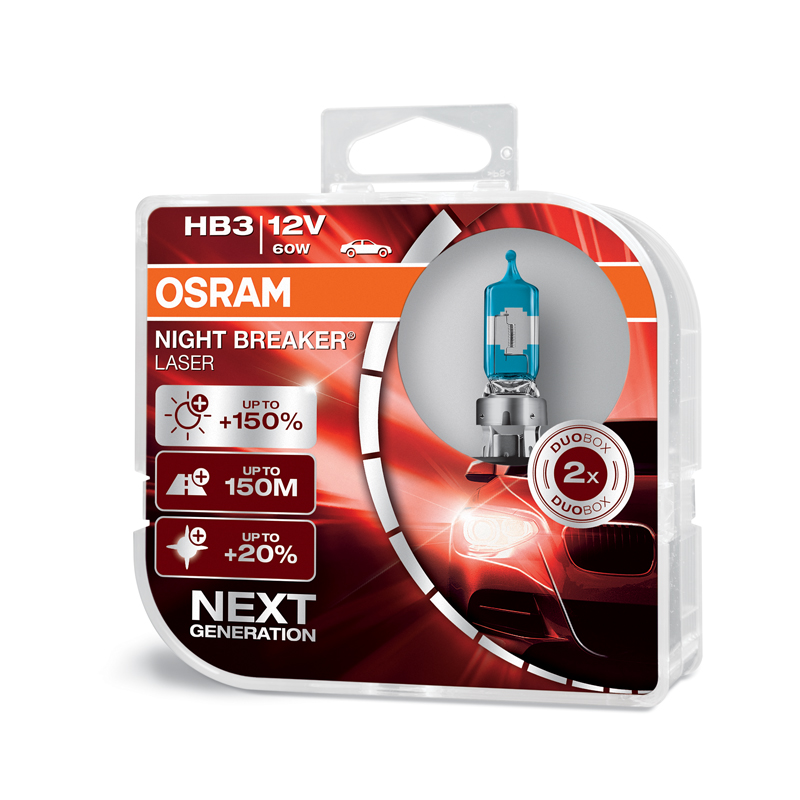OSRAM 12V HB3 60W night breaker laser (2ks) Duo-box