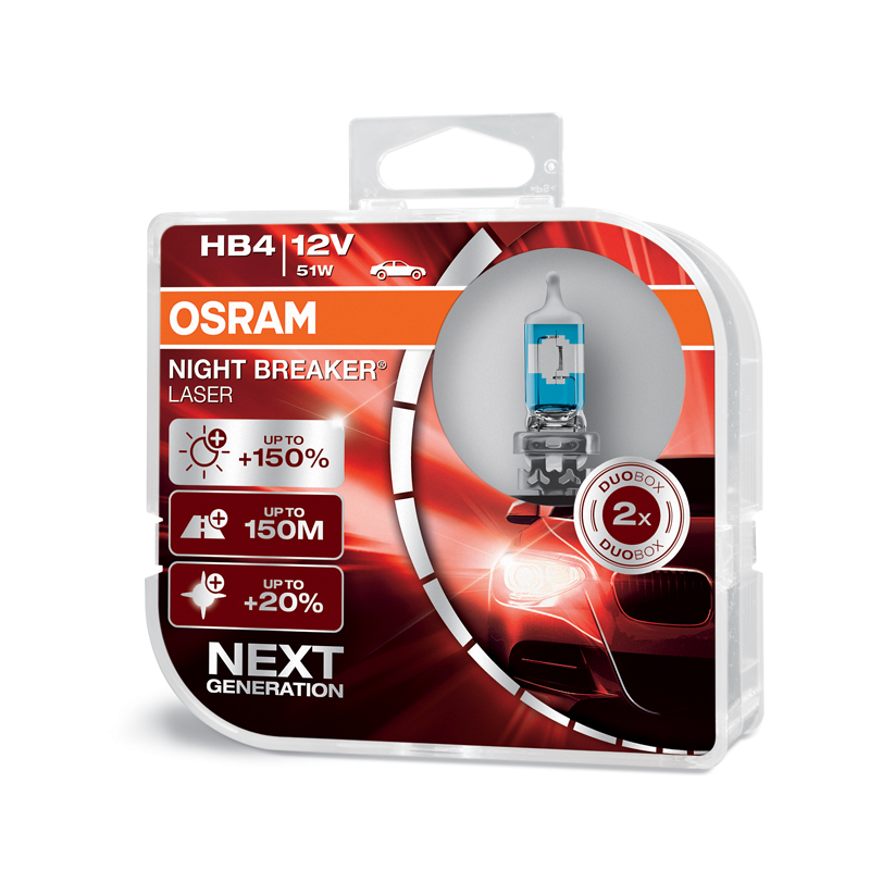 OSRAM 12V HB4 51W night breaker laser (2ks) Duo-box
