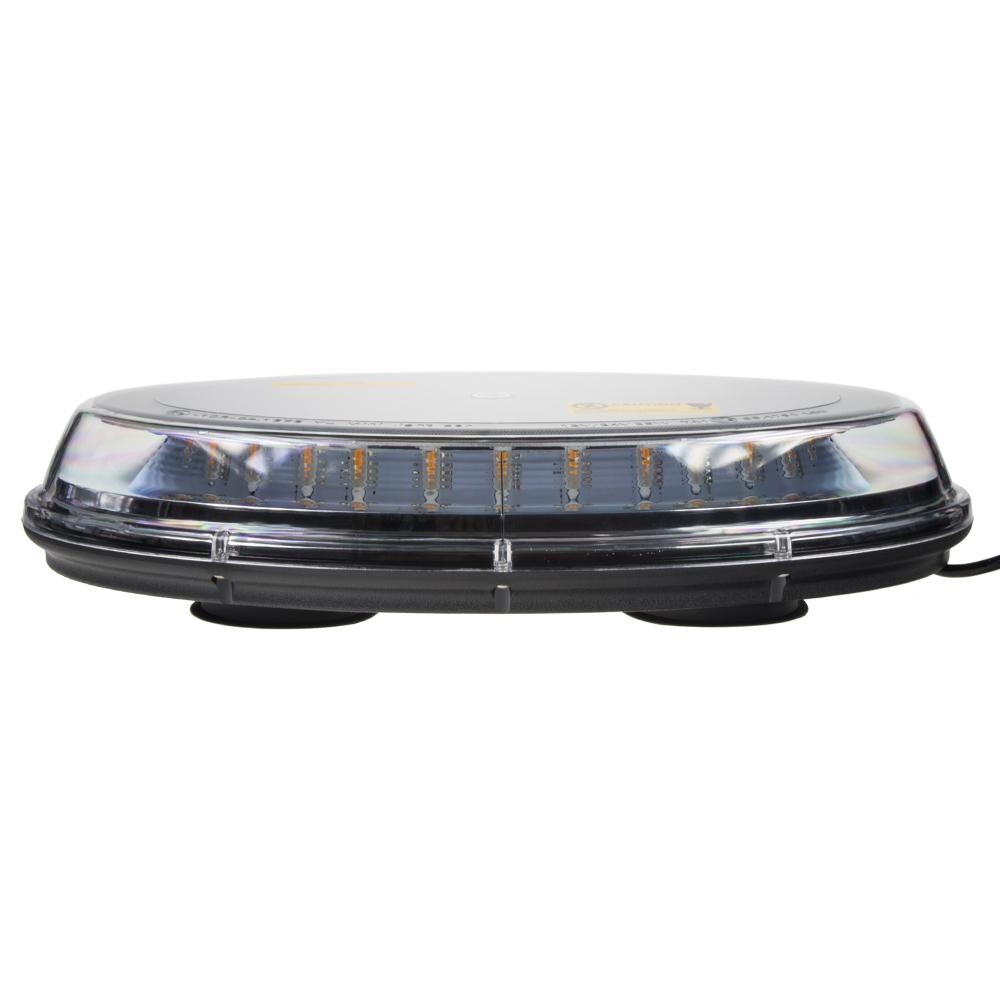 LED rampa oranžová, 32LEDx3W, magnet, 12-24V, 395mm, ECE R65 R10