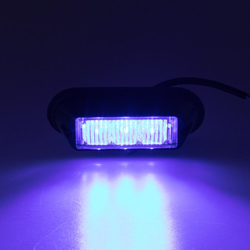 x PREDATOR 3x1W LED, 12-24V, modrý, ECE R10