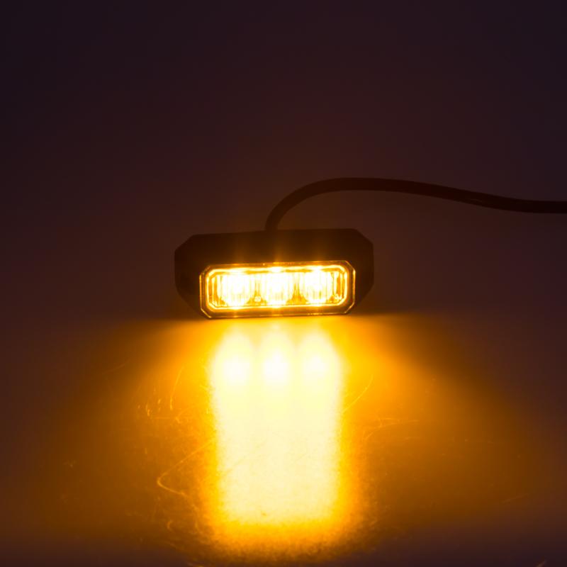 PREDATOR 3x3W LED, 12-24V, oranžový, ECE R10 R65