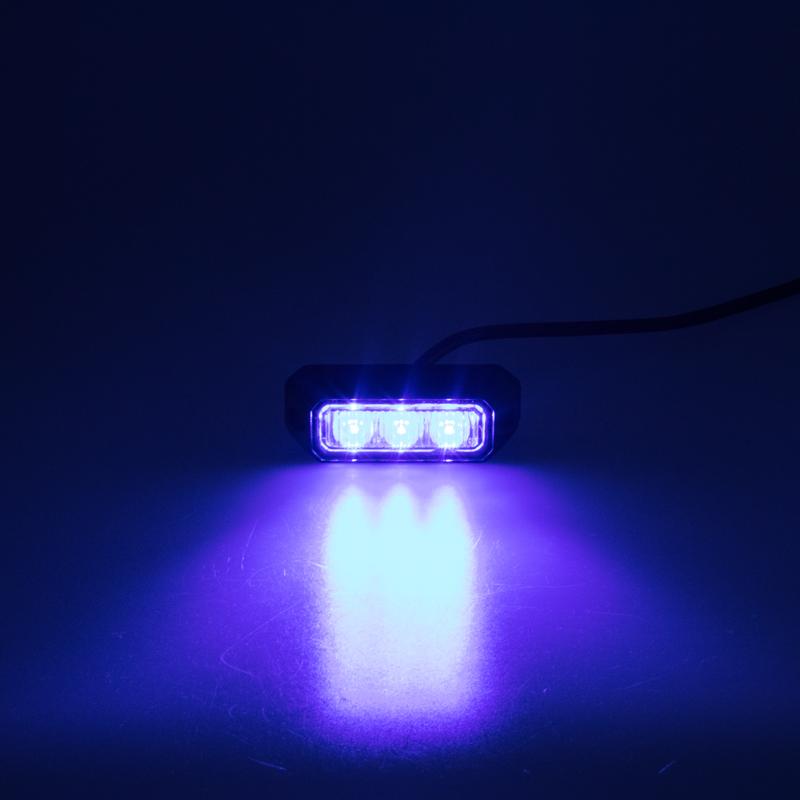 PREDATOR 3x3W LED, 12-24V, modrý, ECE R10