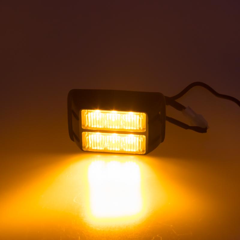 PREDATOR dual 6x1W LED, 12-24V, oranžový, ECE R10 R65