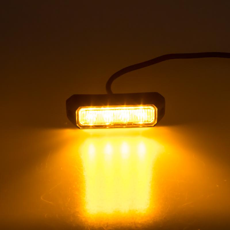 PREDATOR 4x3W LED, 12-24V, oranžový, ECE R10 R65
