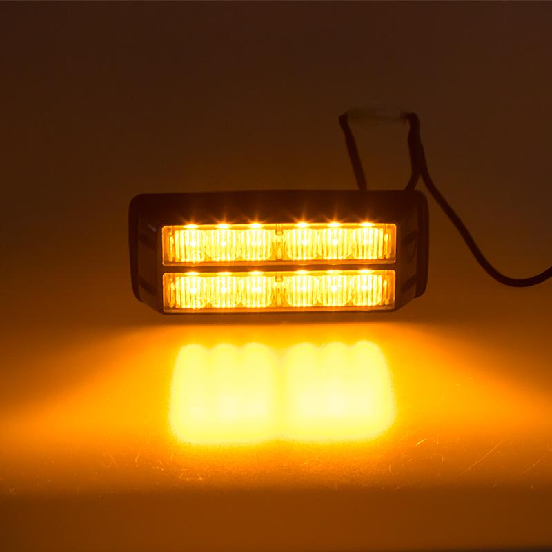 PREDATOR dual 12x1W LED, 12-24V, oranžový, ECE R10