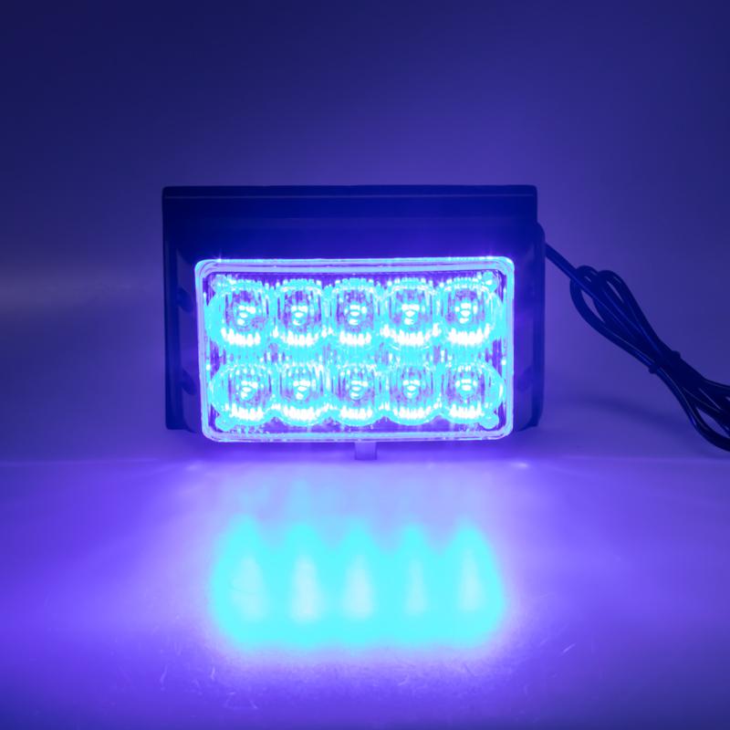 PREDATOR dual 10x1W LED, 12-24V, modrý, CE