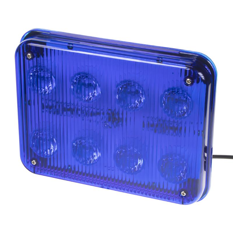 x PREDATOR LED obdélníkový, 12/24V, 8x 3W modrý