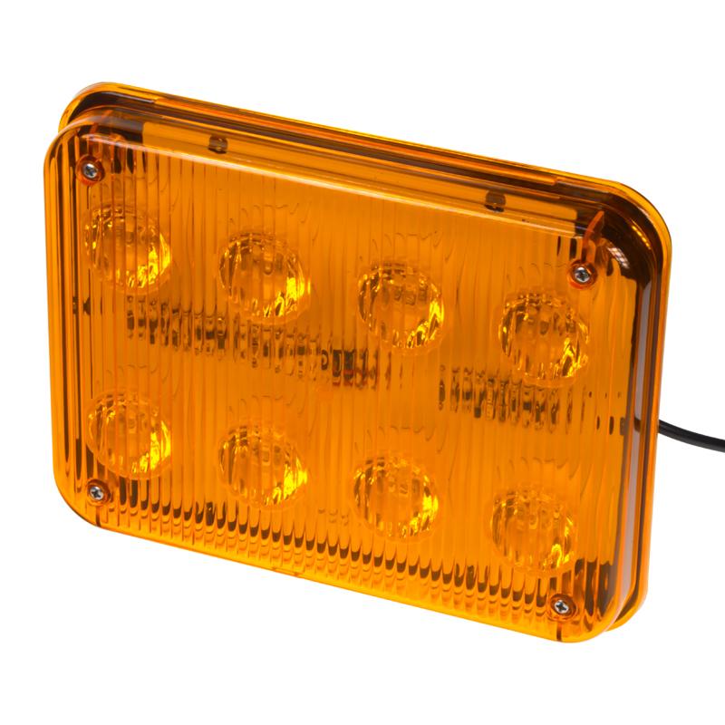 x PREDATOR LED obdélníkový 12/24V, 8x 3W oranžový
