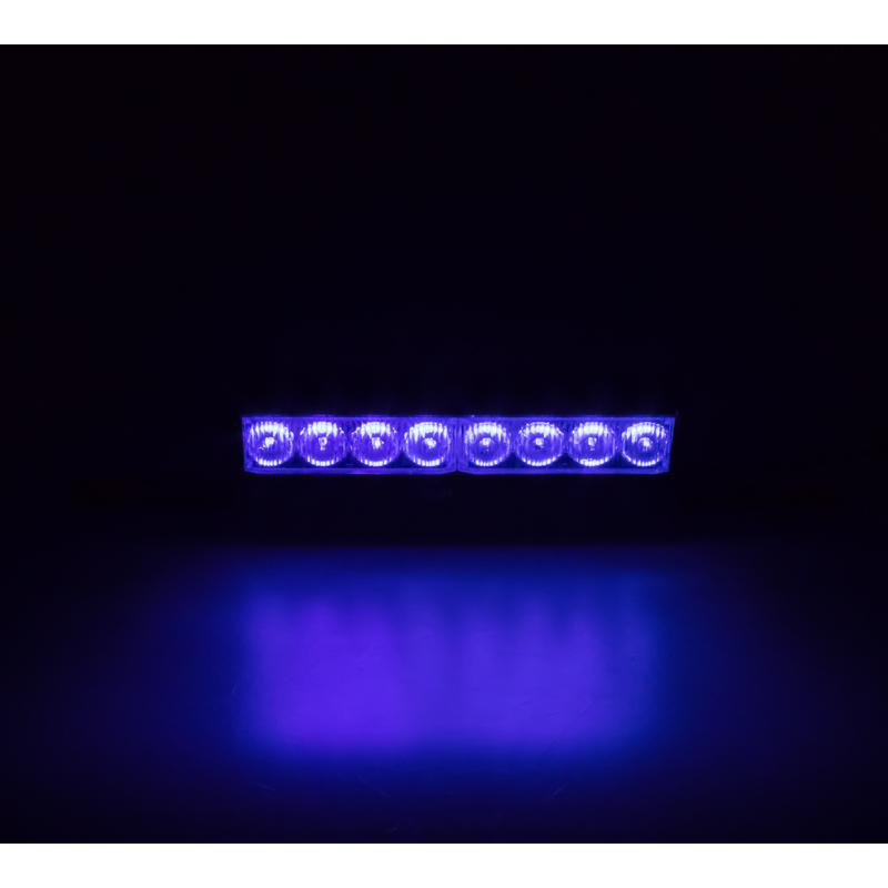 x LED světelná alej, 8x LED 1W, modrá 175mm