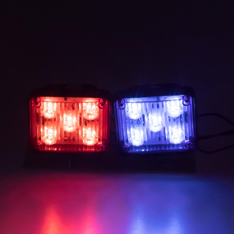 x PREDATOR LED vnitřní, 12V, 10x LED 1W, modro-červená