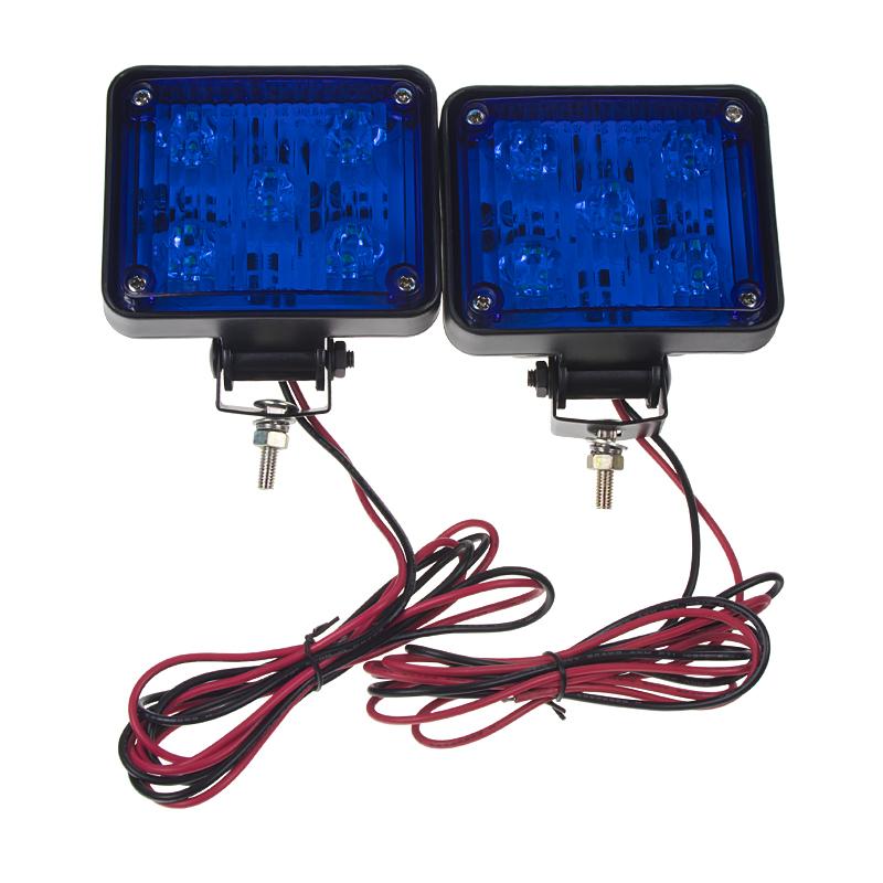 x PREDATOR LED vnitřní, 12V, 10x LED 1W, modrý