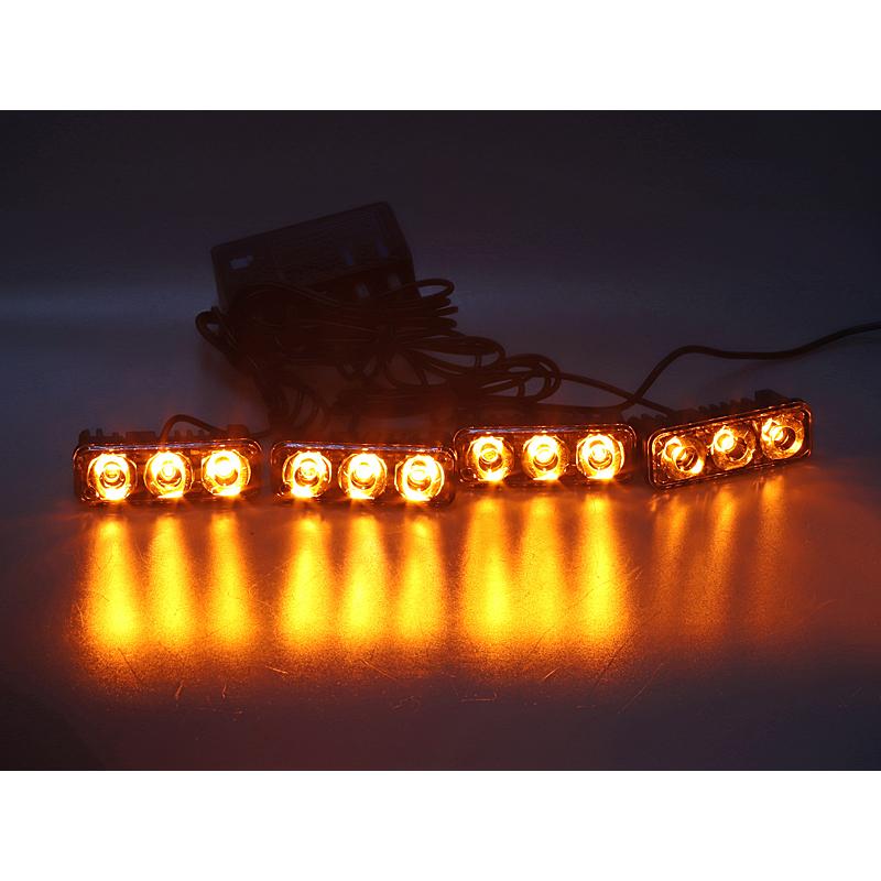 PREDATOR LED vnější bezdrátový, 12x LED 1W, 12V, oranžový