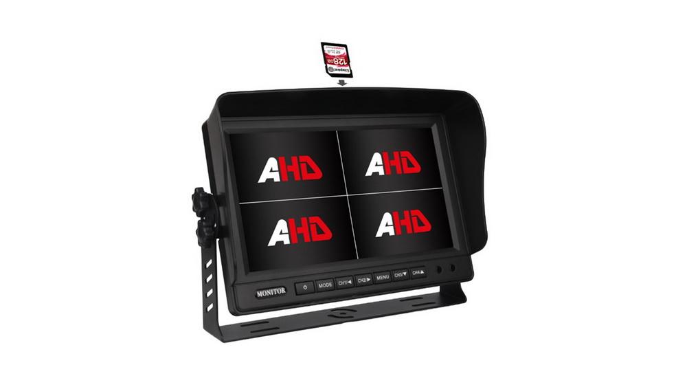 """AHD 960,720P monitor 9"""" s kvadrátorem a DVR"""