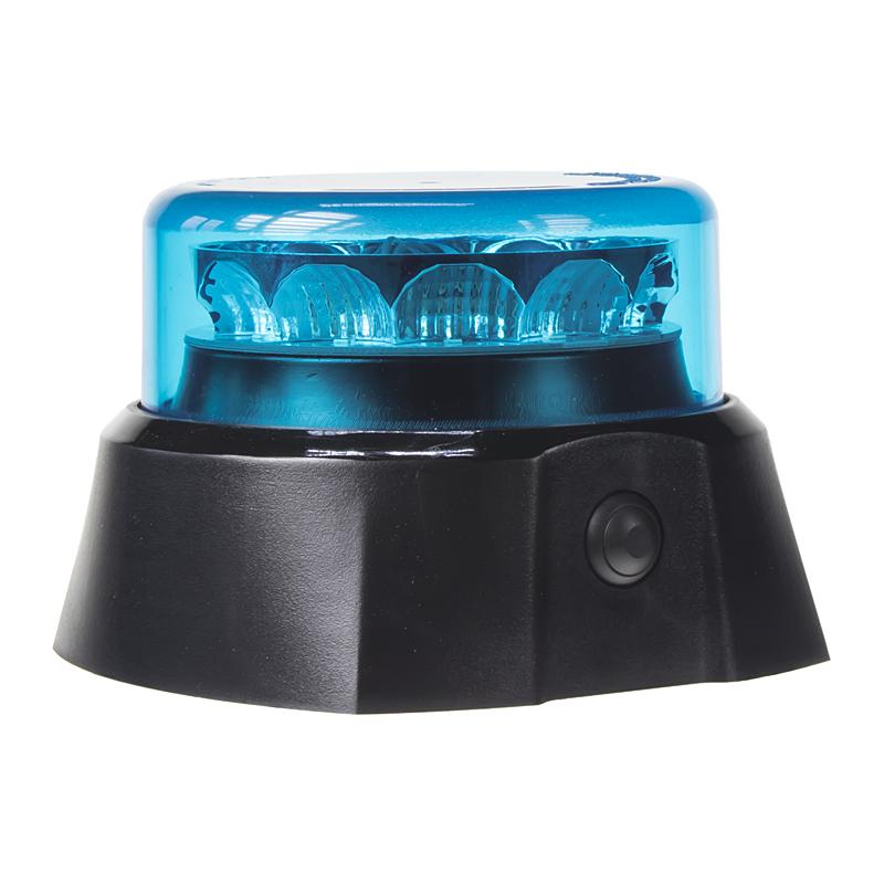 x PROFI AKU LED maják 12x3W modrý 125x90mm, ECE R65