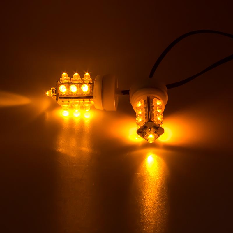LED stroboskop oranžový 2ks