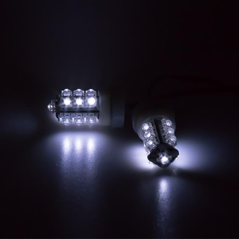 LED stroboskop bílý 2ks