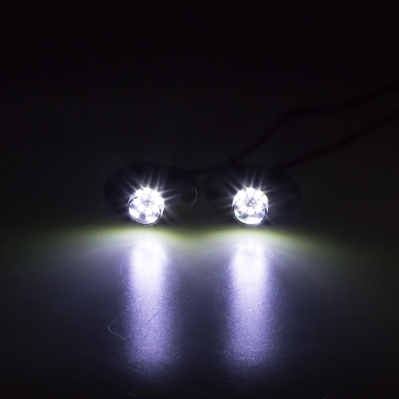 LED stroboskop bílý 8x3W, 12-24V