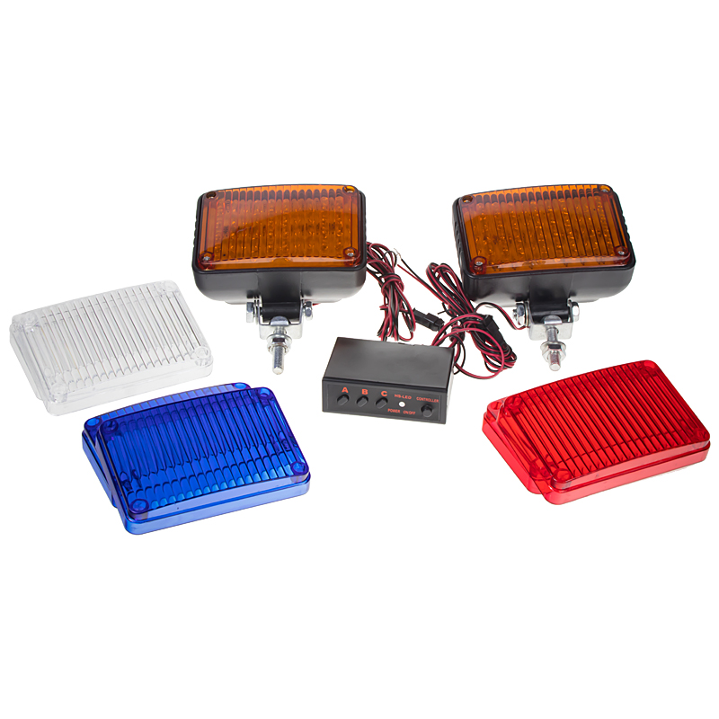 PREDATOR LED vnější, 12V, s kryty modrá, bílá, oranžová