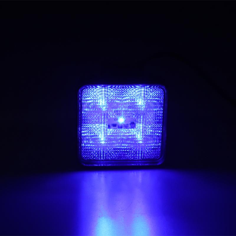 Výstražné LED světlo vnější, modré, 12/24V