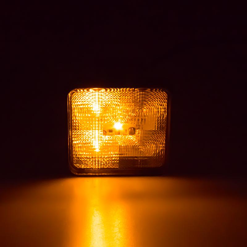 Výstražné LED světlo vnější, oranžové, 12/24V