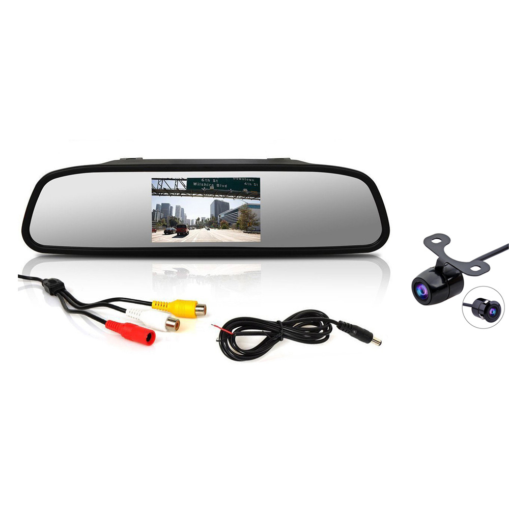 """Parkovací kamera s LCD 4,3"""" monitorem na zrcátko"""
