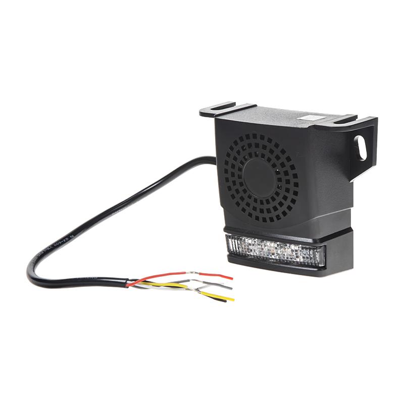 Signalizace couvání 10-80V, 92-107dB, ECE R10, se stroboskopem