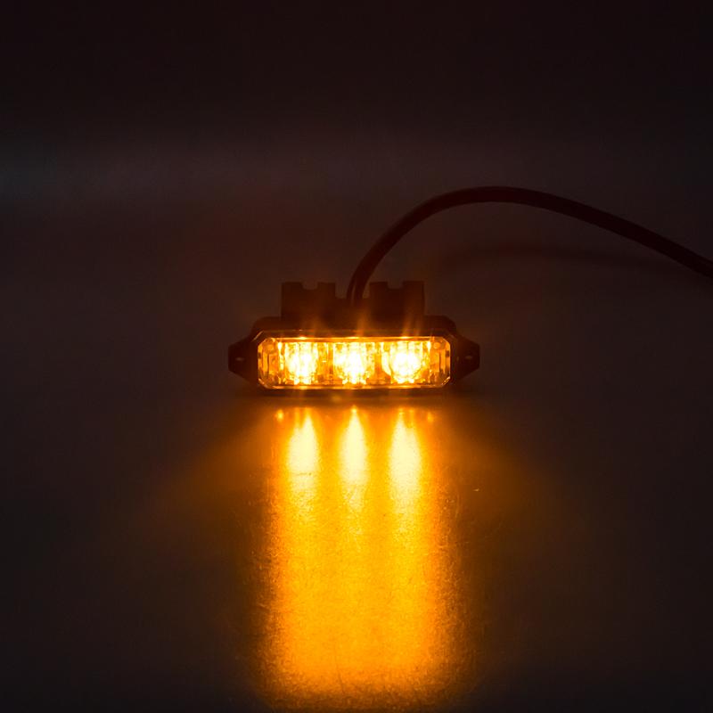 MINI PREDATOR 3x1W LED, 12-24V, oranžový, ECE R10