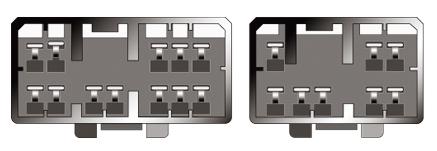 Konektor ISO Mazda old do r. 2000