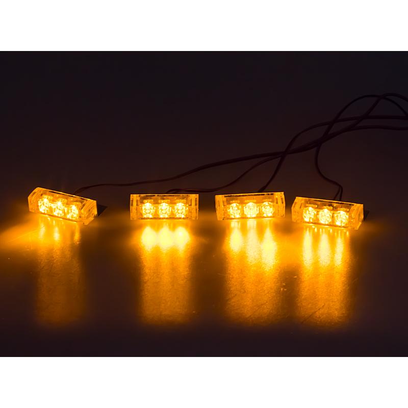 PREDATOR LED do mřížky, 12V, oranžový