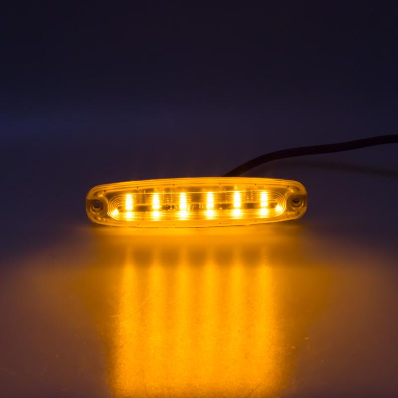 PREDATOR Ultra Slim 6x5W LED, 12-24V, oranžový, ECE R10 R65