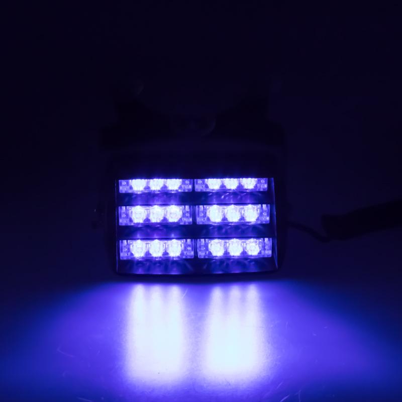 PREDATOR LED vnitřní, 18x LED, 12V, modrý, 125mm