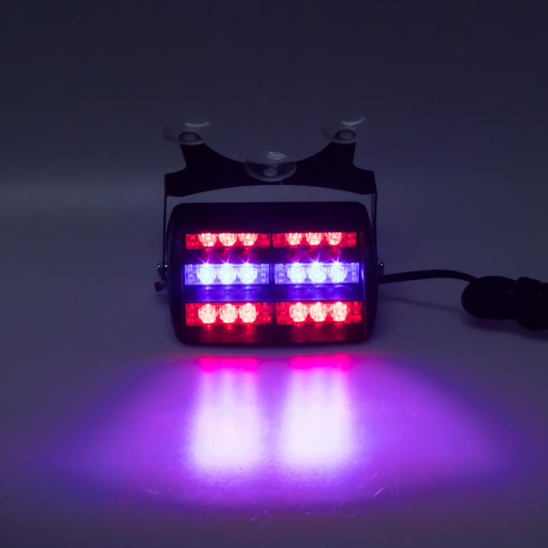 x PREDATOR LED vnitřní, 18x LED, 12V, modro-červená, 125mm