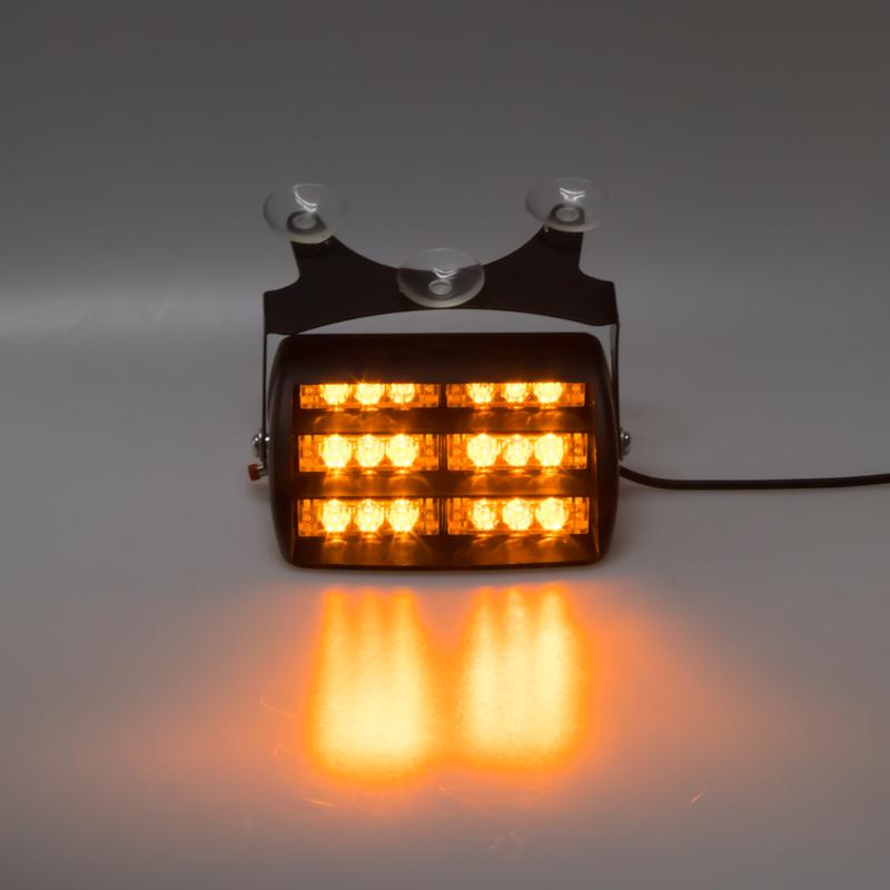 PREDATOR LED vnitřní, 18x LED, 12V, oranžový, 125mm