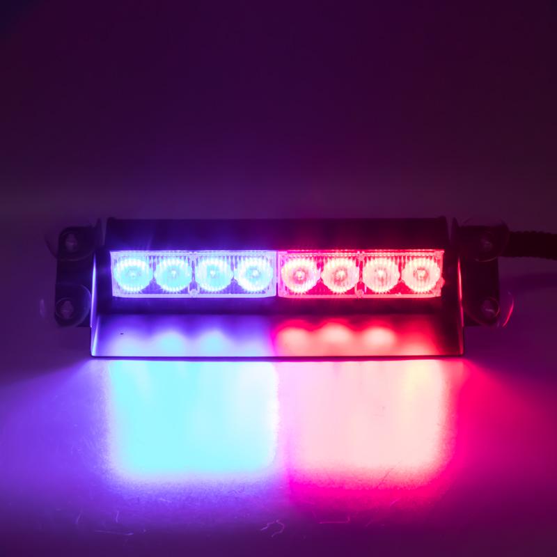 x PREDATOR LED vnitřní, 8x LED 1W, 12V, modro-červený, 210mm