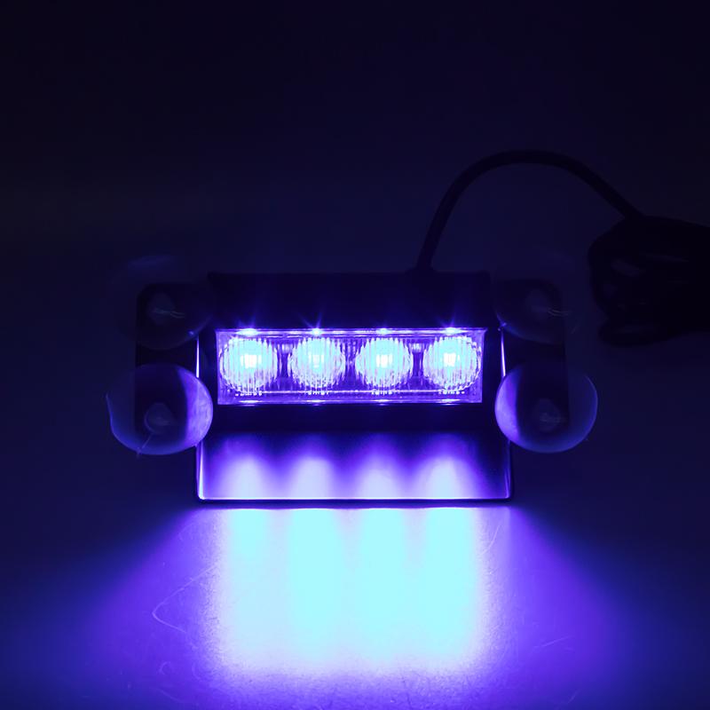 PREDATOR LED vnitřní, 4x3W, 12-24V, modrý, 146mm