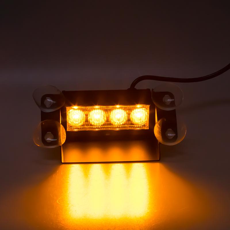 PREDATOR LED vnitřní, 4x3W, 12-24V, oranžový, 146mm