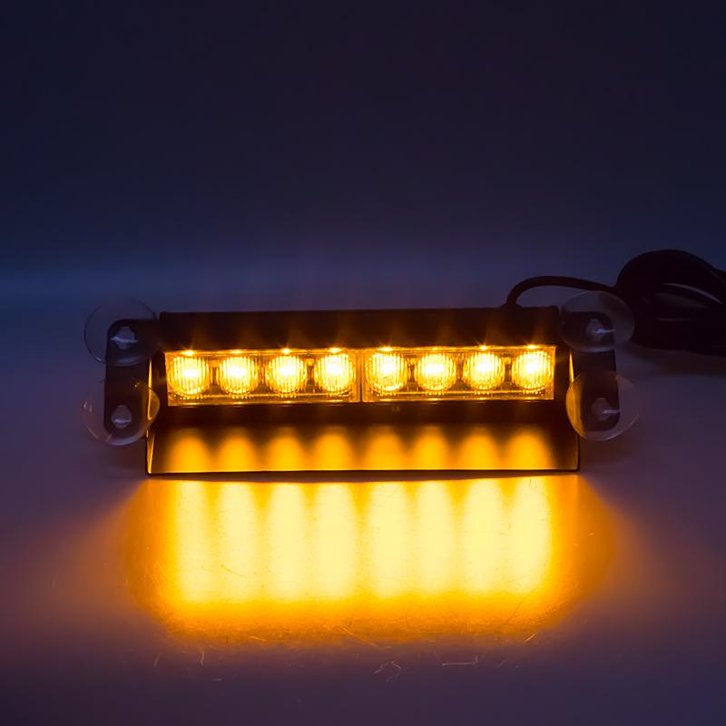 PREDATOR LED vnitřní, 8x3W, 12-24V, oranžový, 240mm, CE