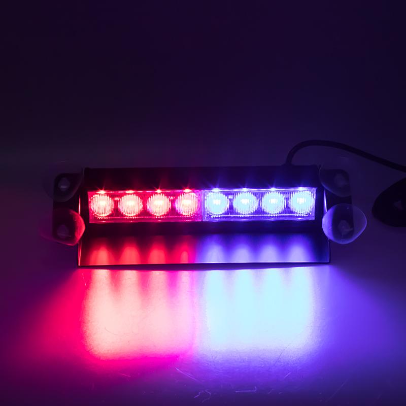 PREDATOR LED vnitřní, 8x3W, 12-24V, červeno-modrý, 240mm
