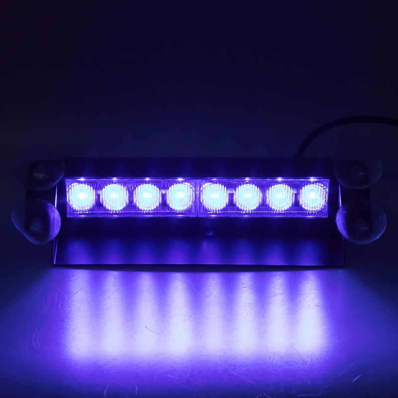 PREDATOR LED vnitřní, 8x3W, 12-24V, modrý, 240mm