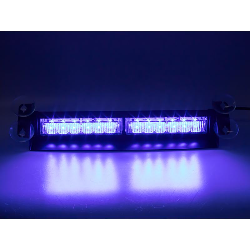 PREDATOR LED vnitřní, 12x3W, 12-24V, modrý, 353mm, ECE R10