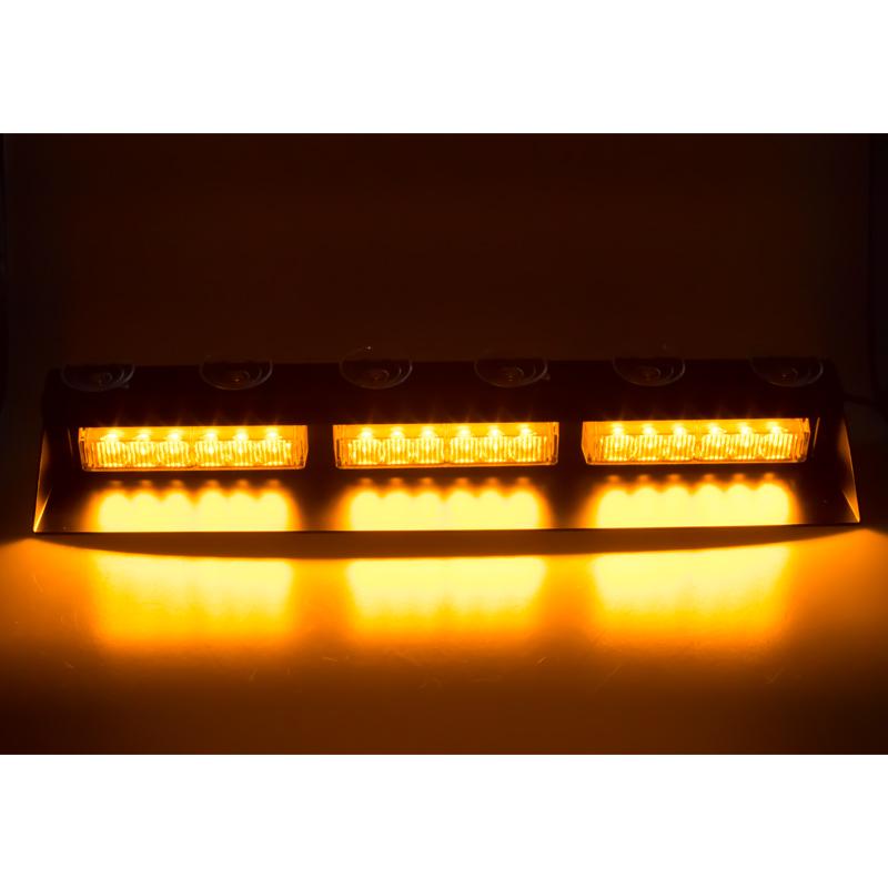 PREDATOR LED vnitřní, 18x3W, 12-24V, oranžový, 490mm, CE