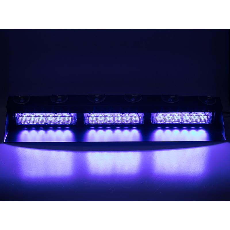 PREDATOR LED vnitřní, 18x3W, 12-24V, modrý, 490mm, ECE R10