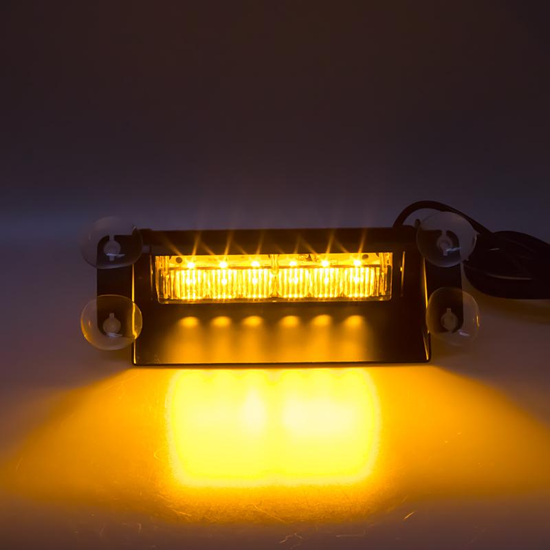 PREDATOR LED vnitřní, 6x3W, 12-24V, oranžový, 210mm, CE