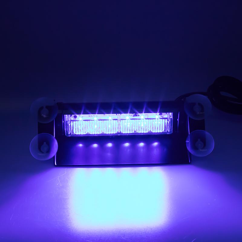 PREDATOR LED vnitřní, 6x3W, 12-24V, modrý, 210mm, ECE R10