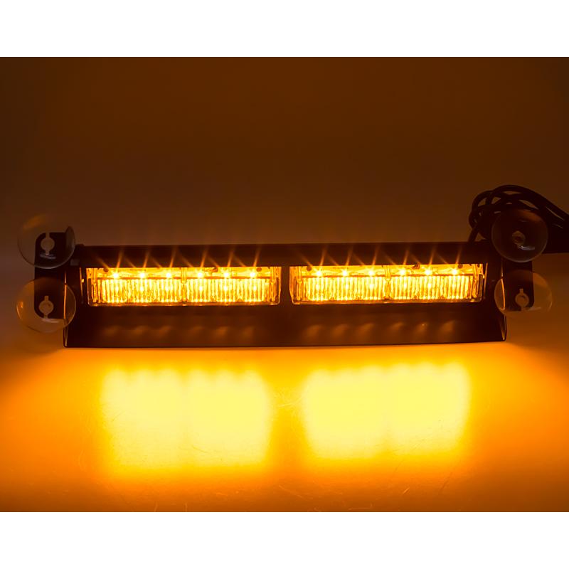 PREDATOR LED vnitřní, 12x3W, 12-24V, oranžový, 353mm, ECE R10