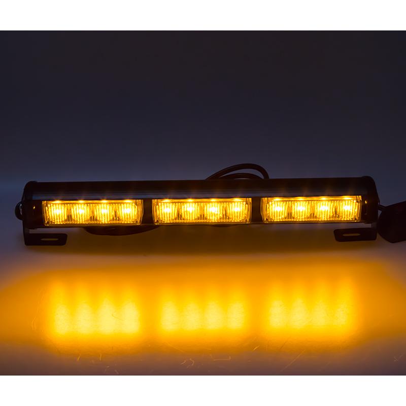 LED světelná alej, 12x LED 3W, oranžová 360mm, ECE R65