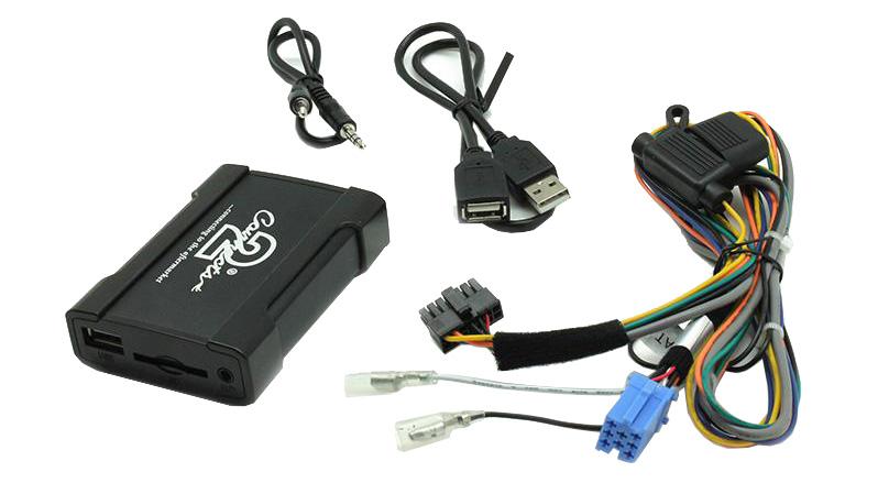 Connects2 - ovládání USB zařízení OEM rádiem Fiat,Alfa Romeo/Blaupunkt AUX vstup