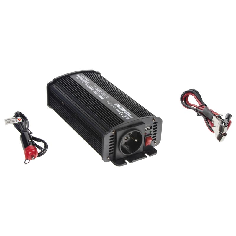 Měnič napětí z 24/230V + USB, 600W