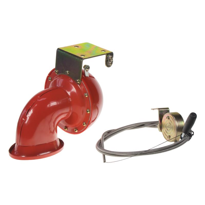 Bull horn siréna 12V, červená, s ovladačem